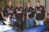 Amsoil Dealer Kent Whiteman with Amsoil sponsored snowmobile race team, Wisconsin