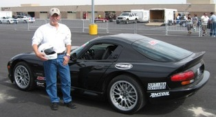 Amsoil Synthetic Oil Dealer Kent Whiteman with Amsoil Sponsored Dodge Viper at Miller Motorsports Park, Utah